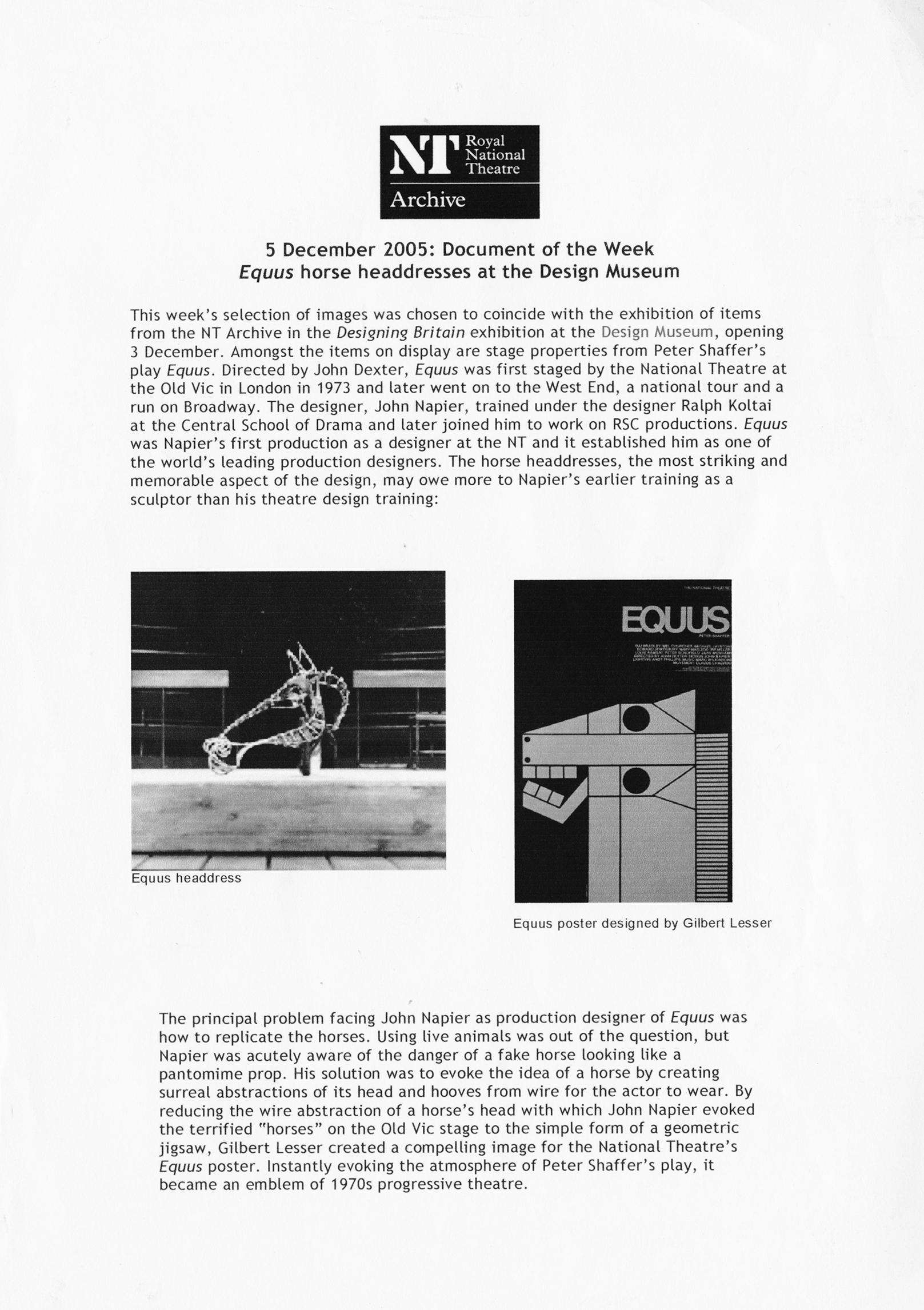 Equus essay